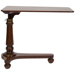 19th Century English Mahogany Adjustable Reading Table