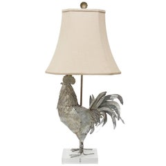 Metal Rooster Lamp on Acrylic Base