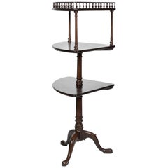 19th Century Mahogany Three-Tiered Corner Stand
