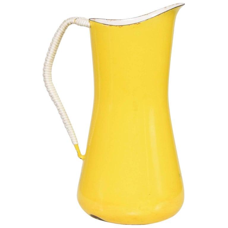 Dansk Large Yellow Pitcher Danish Mid-Century Modern