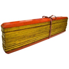 Burmese Palm Leaf Pali Prayer Manuscript, Myanmar, 19th Century