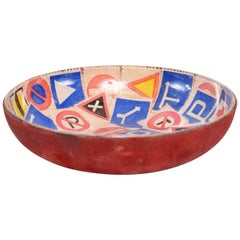 Mid-Century Modern Decorative Italian Bowl Advertising ESSO