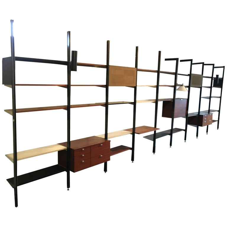 Three bay CSS, designed by George Nelson for Herman Miller,