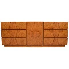 Milo Baughman Burlwood Dresser by Lane, Mid-Century Modern
