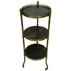 Napoleon III Bronze-Mounted Calamander 'Zebra' Wood Side Table