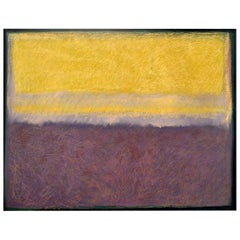 Abstract Painting Titled Study in Yellow and Violet by Artist Robert Diesso