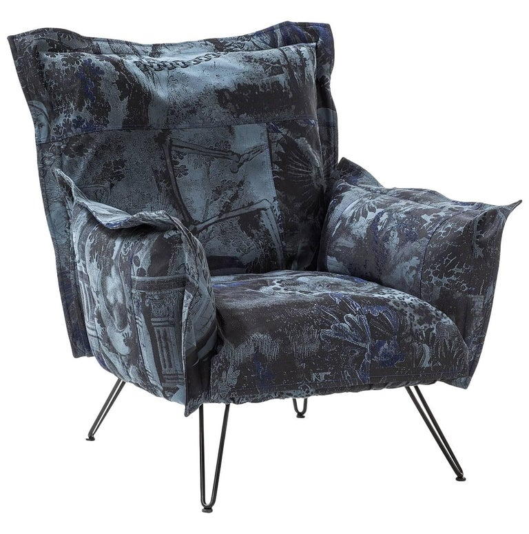 """Cloudscape"" Armchair with Fiber or Goose and Steel Frame by Moroso for Diesel"