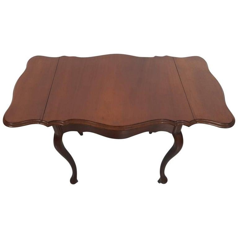 Mid-19th Century Dutch Mahogany Drop-Leaf or Pembroke Table