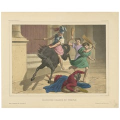 "Religious Print ""No.26"" Expulsion of Heliodorus from the Temple, circa 1840"