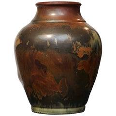 Danish Polychrome Stone Vase by Knud Kyhn, circa 1934