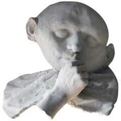 Beth Carter, 'Young Clown Mask with Bow & Collar', Jesmonite and Plaster, Unique
