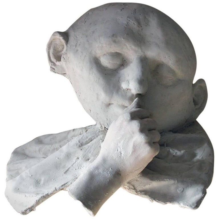 Beth Carter, 'Young Clown Mask with Bow & Collar', Jesmonite and Plaster, Unique For Sale