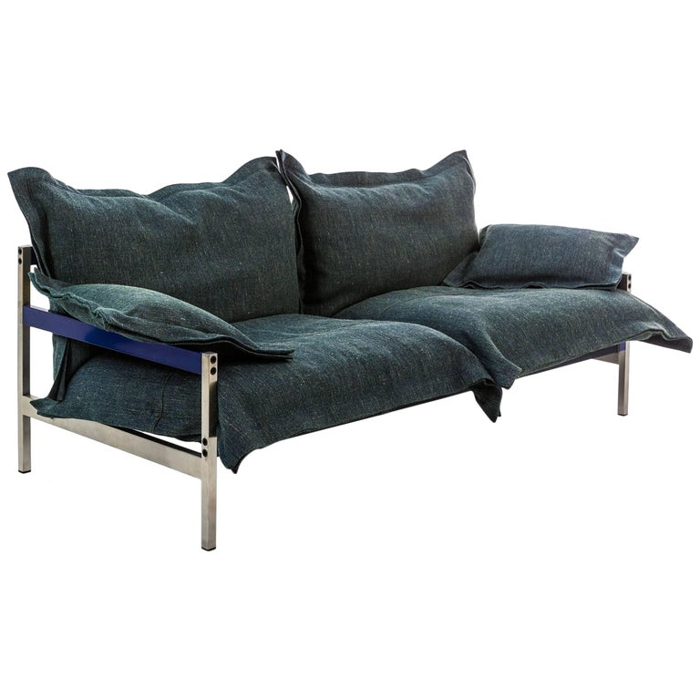 """Iron Maiden"" Three-Seat Upholstered Sofa with Steel Frame by Moroso for Diesel"
