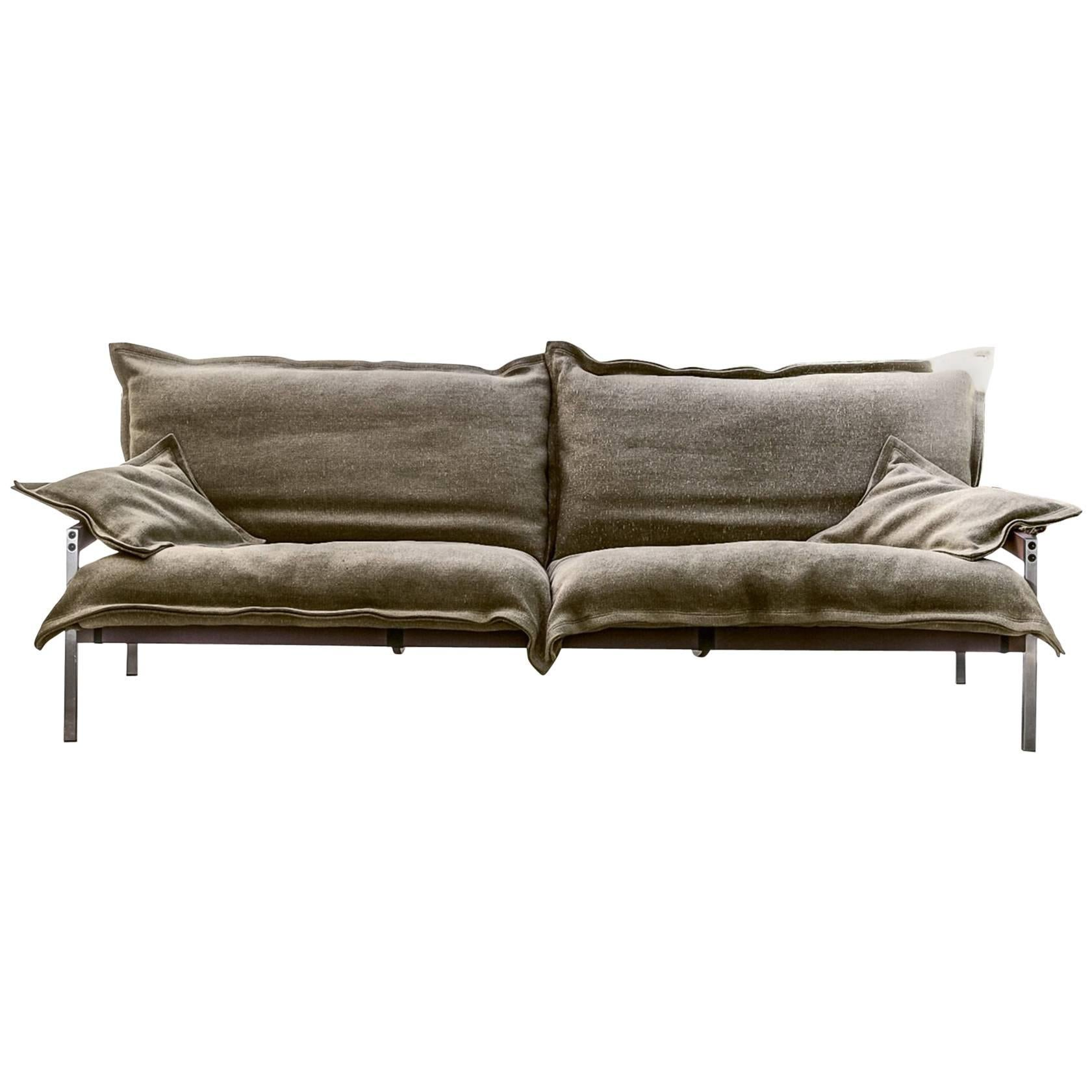 """Iron Maiden"" Three-Seat Upholstered Steel Frame Sofa by Moroso for Diesel"