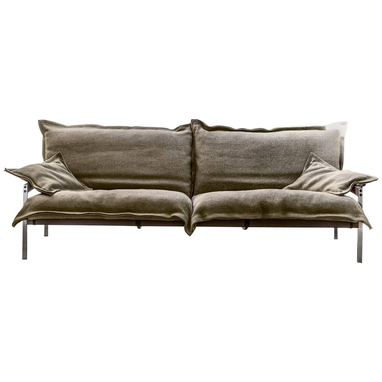 """Iron Maiden"" Three-Seat Upholstered Steel Frame Sofa by Moroso for Diesel For Sale"