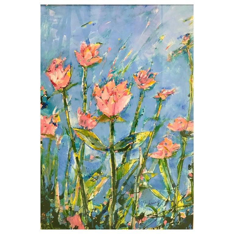 Painting of Flowers in the School of Matisse by James Antonie For Sale