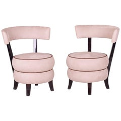 Pair of Art Deco Armchairs from France, Macassar