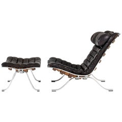 """Ari"" Lounge Chair and Ottoman by Arne Norell"