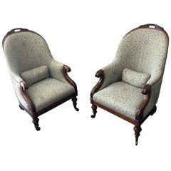 Pair of Regency Club Armchairs