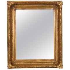 Antique Wall Mirror Victorian Gilt Gesso Frame, English, Overmantel, circa 1900