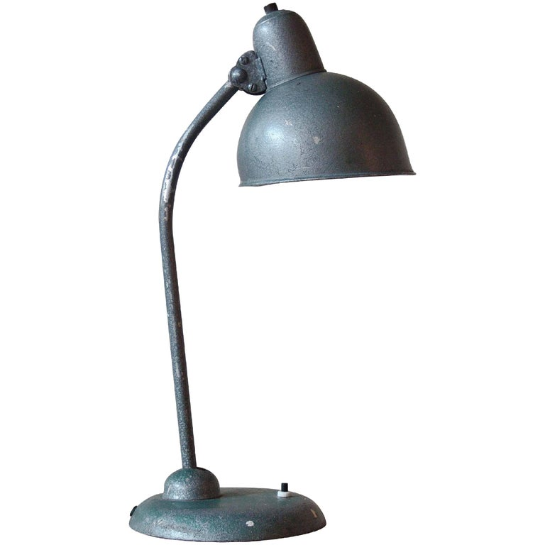 1940s Christian Dell Metal Bauhaus Table or Desk Lamp for Kaiser