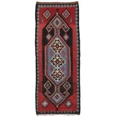 Vintage Persian Tribal Kilim Rug with Modern Style, Kilim Runner