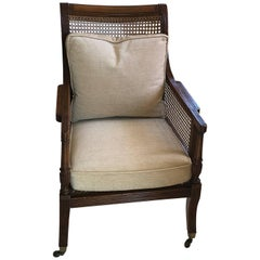 English Regency Library Armchair