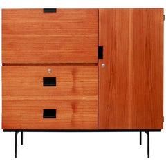 Pastoe CU01 cabinet Japanese series Teak higboard by Cees Braakman, 1959