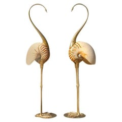 Brass and Shell Flamingos from Gabriella Binazzi