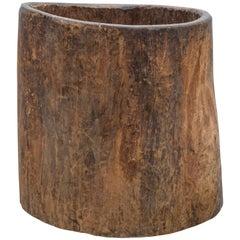 Wooden Storage Vessel, 19th Century