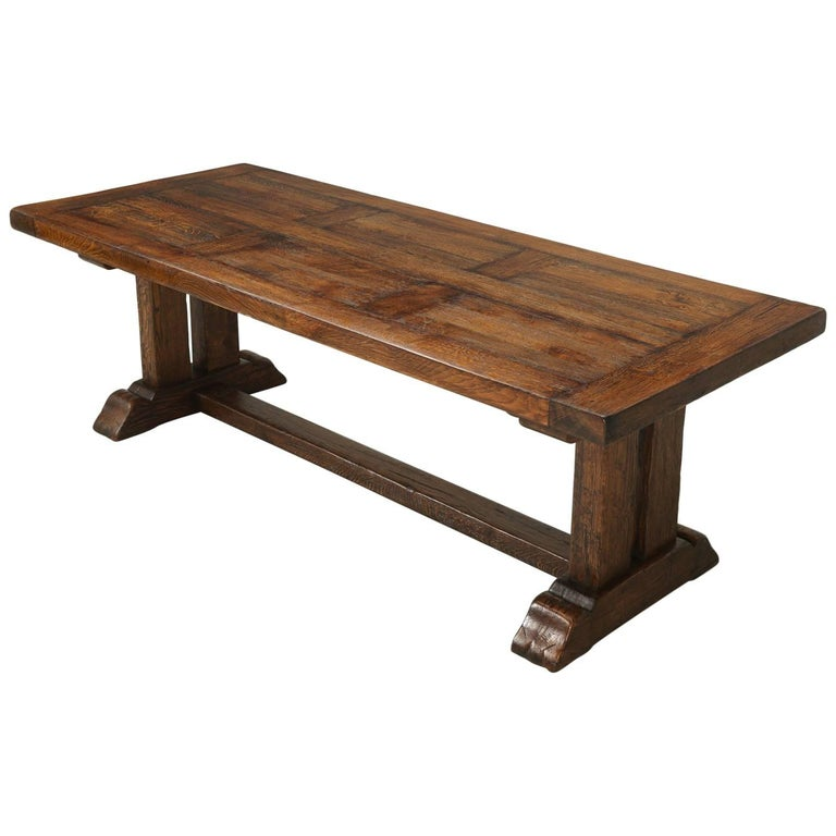 French Trestle Dining Table with Matching Leaves