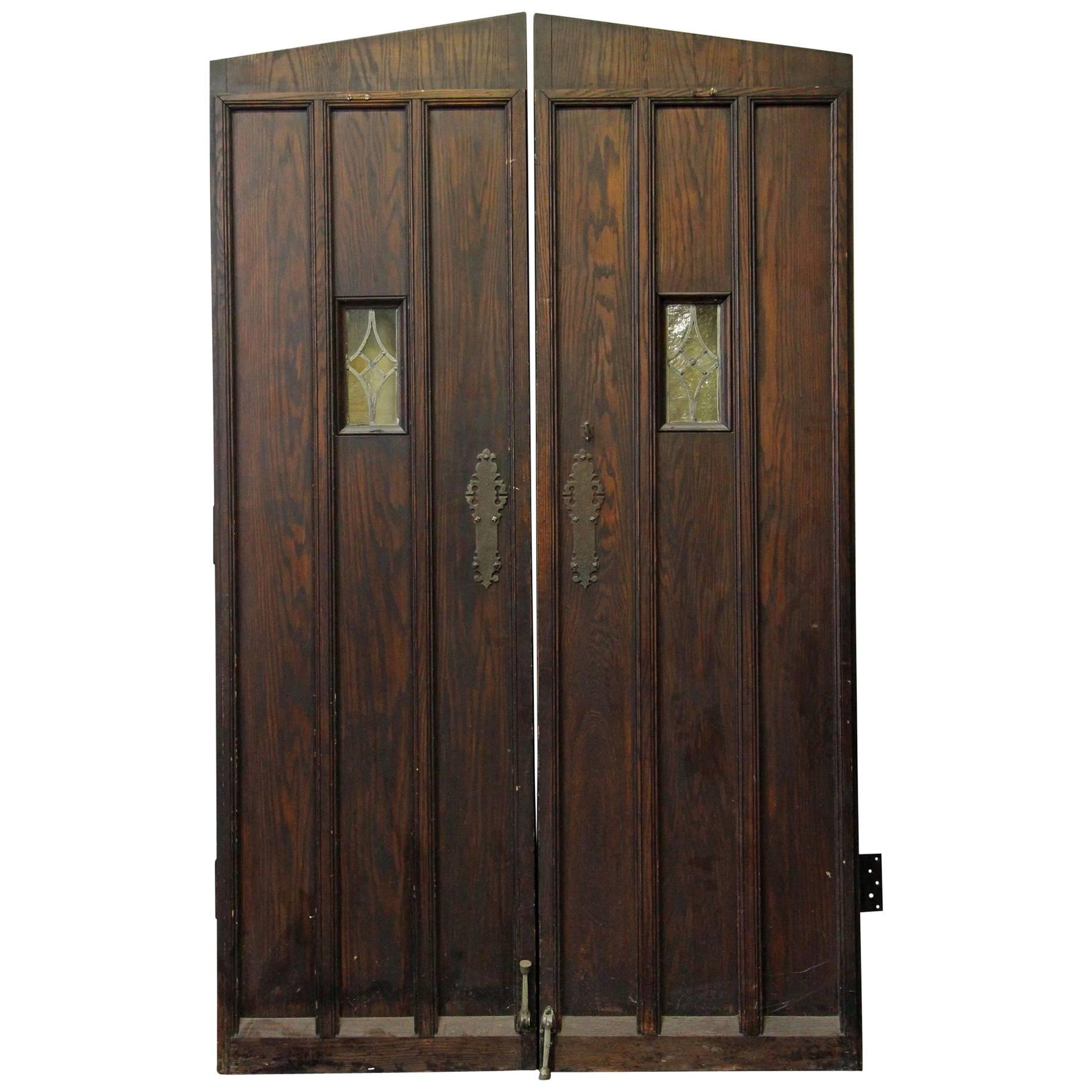 1920s Oak Wine Cellar Double Entry Doors with Gothic Arch  sc 1 st  1stDibs & 18th Century English Gothic Oak Plank Door For Sale at 1stdibs