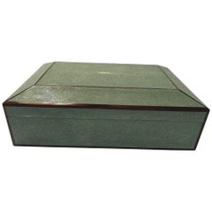 Natural Shagreen and Ebony Inlay Box