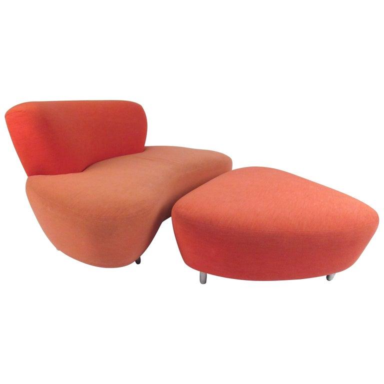 Modernica Lounge Chair with Ottoman