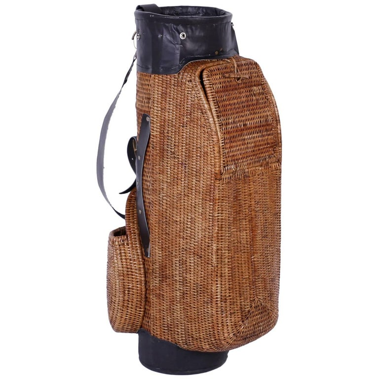 Vintage Wicker Golf Bag For Sale