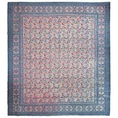 Antique Chinese Peony Carpet