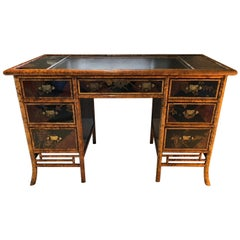 English Victorian Bamboo Desk