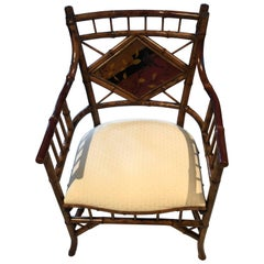 English Bamboo Armchair