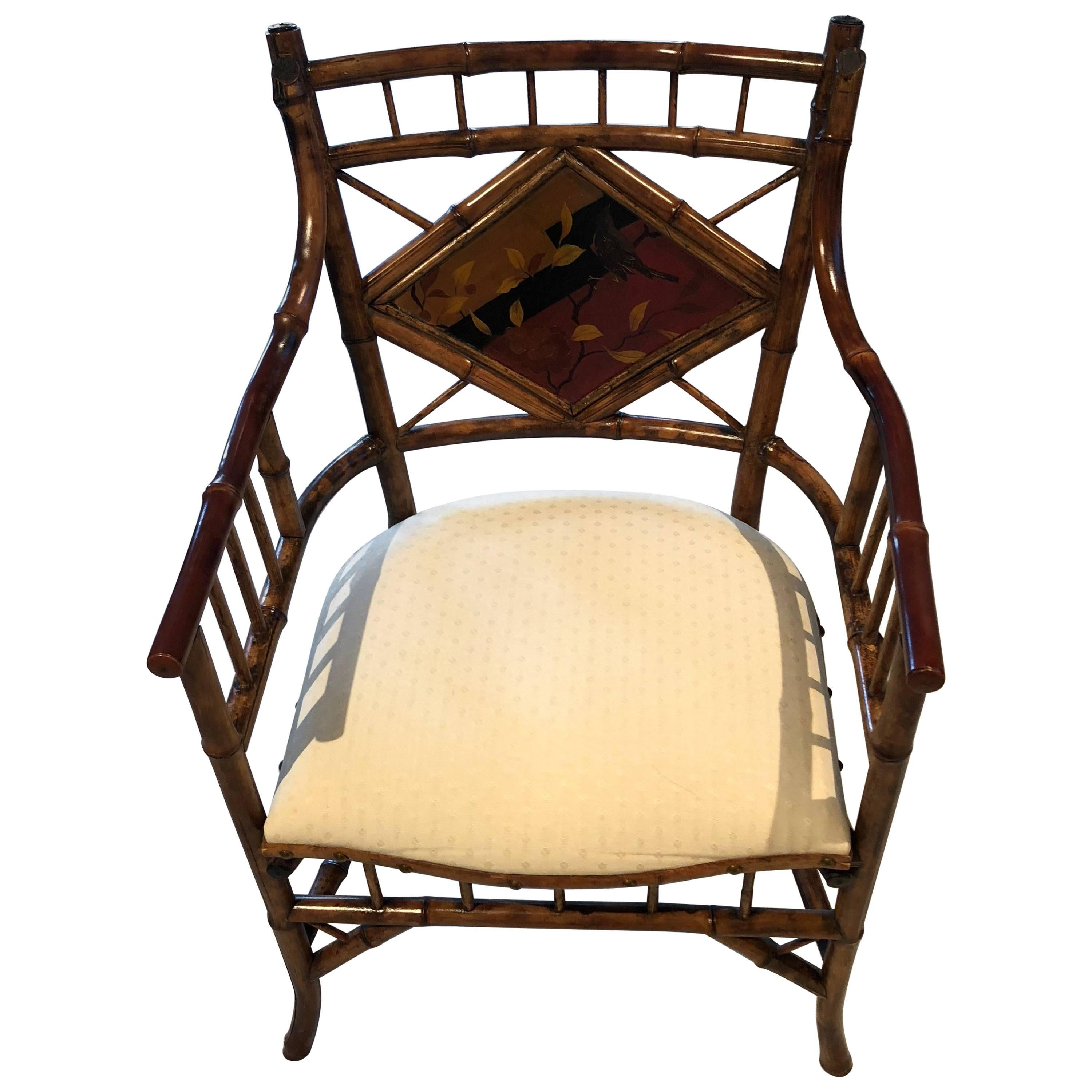 English Bamboo Armchair For Sale