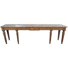 Jansen Style Marble-Top Console Table