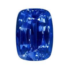 Unheated Ceylon Sapphire Ring Gem 6.50 Carat No Heat Cushion Loose Gemstone