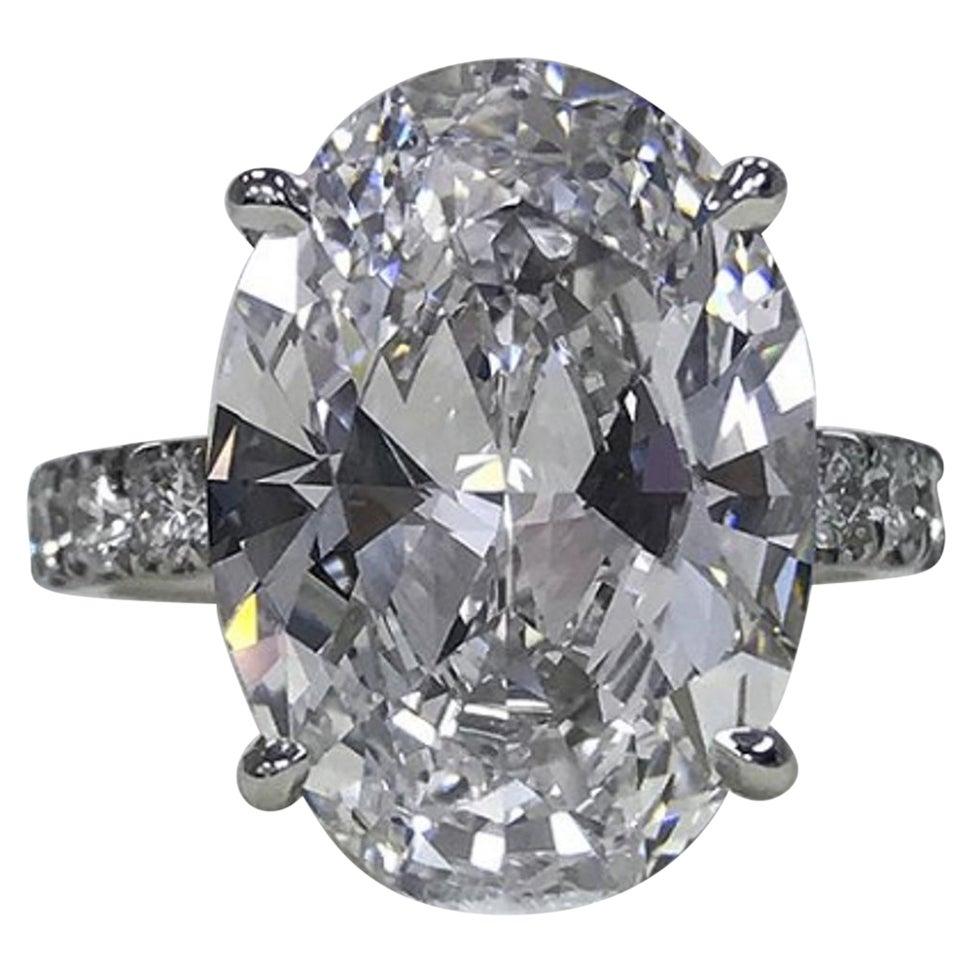 GIA Certified 1.65 Carat Oval Diamond E Color VS1 Clarity