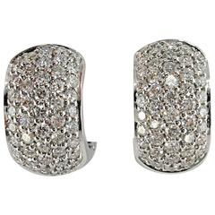 Jona Diamond Pave Gold Hoop Earrings