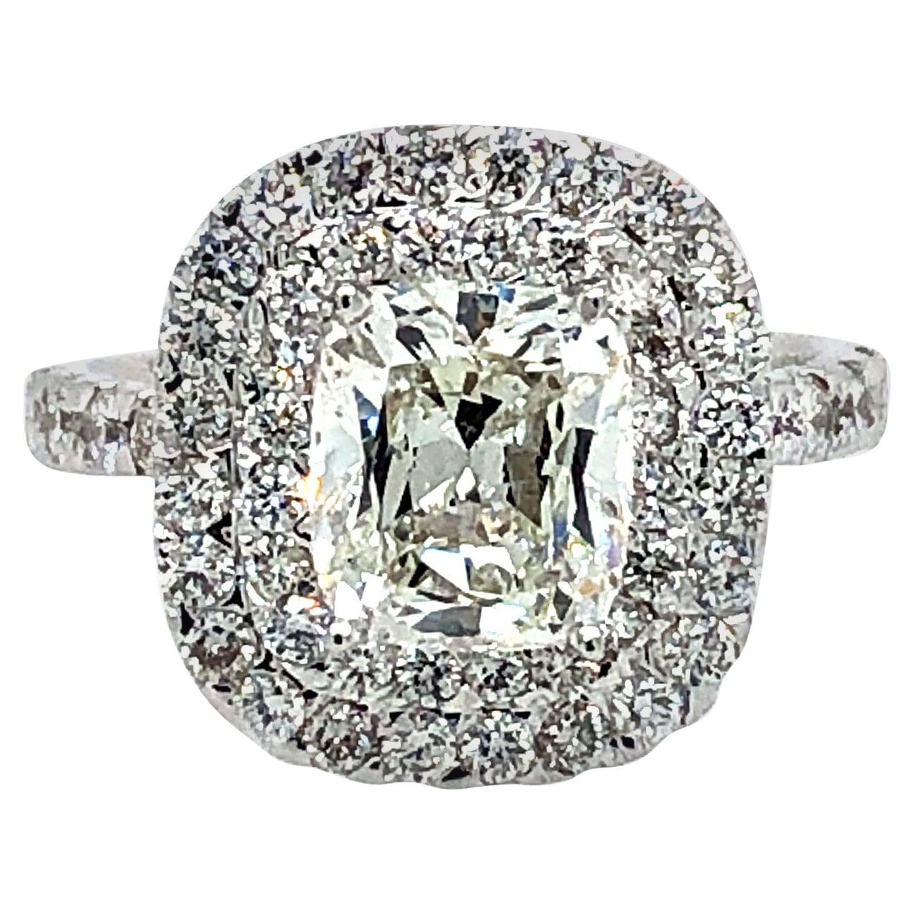 Cushion Cut Diamond GIA 2.16 Carat Engagement Ring