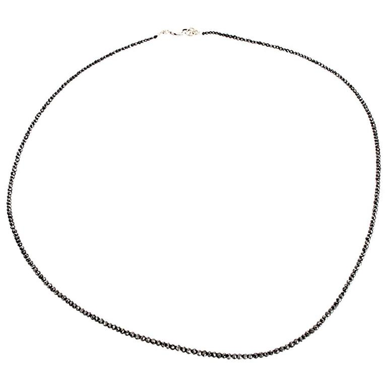 Amazing Black Diamond Bead Necklace
