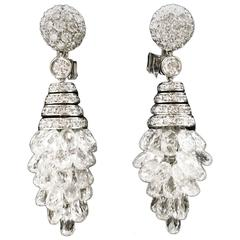 Graff Spectacular diamond gold waterfall earrings