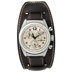 Bell & Ross Vintage Vintage 120, Ivory Dial, Certified and Warranty