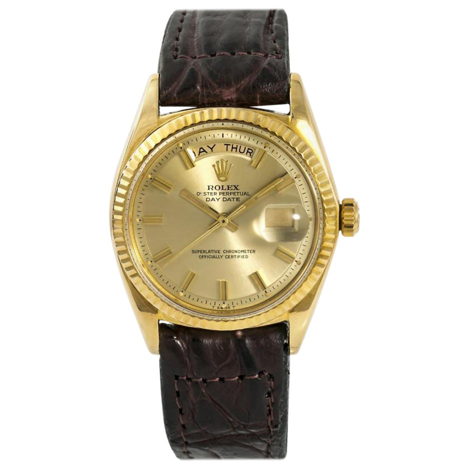 Rolex Day-Date 1803, Champagne Dial, Certified and Warranty
