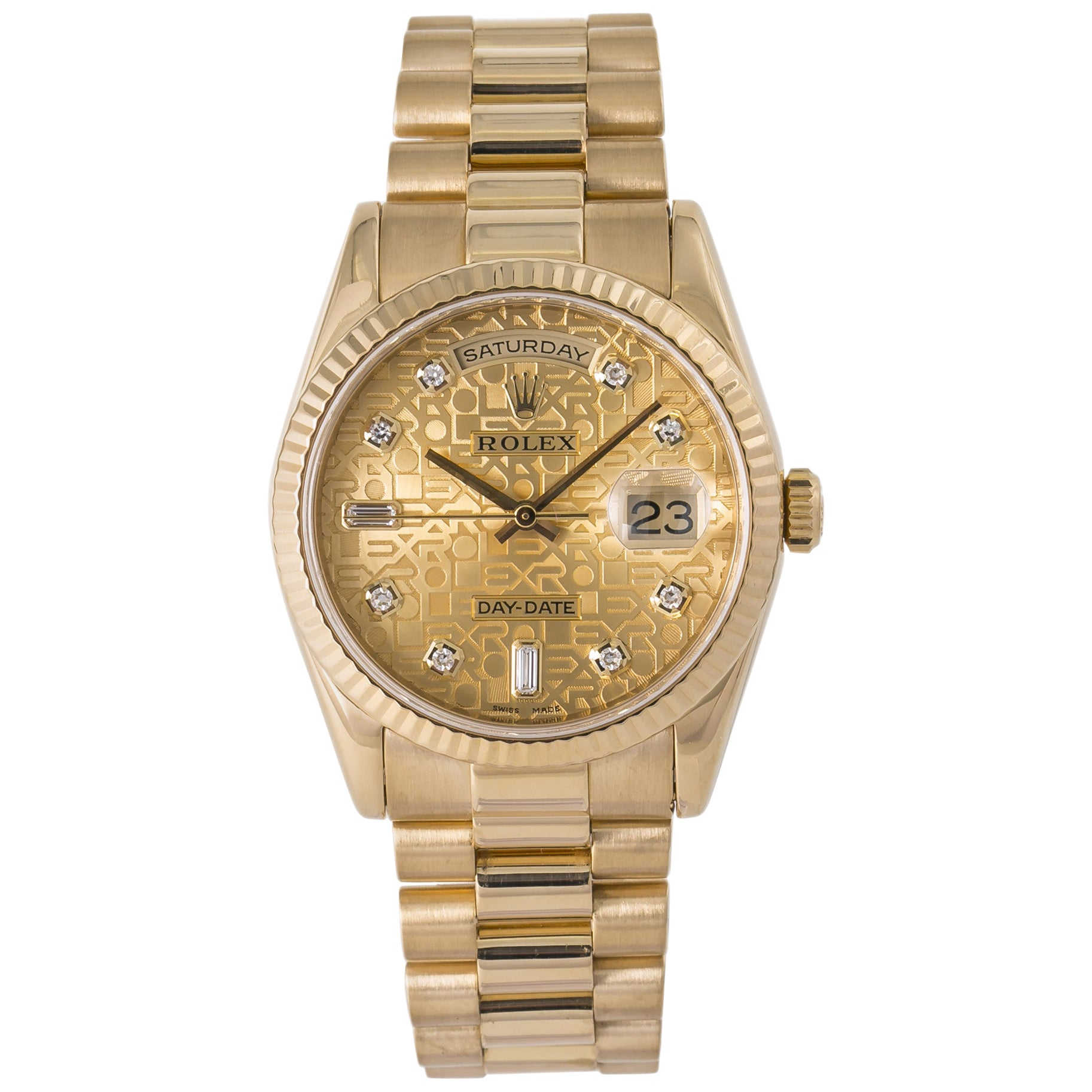 Rolex Day-Date 118238, Gold Dial, Certified and Warranty