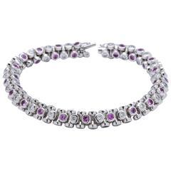 Tamara Comolli Pink Sapphire Diamond Gold Bracelet